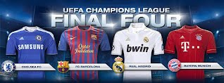 UEFA Chapions League Semi Finals 2012 Chelsea v Barcelona Real Madrid v Bayern Munich