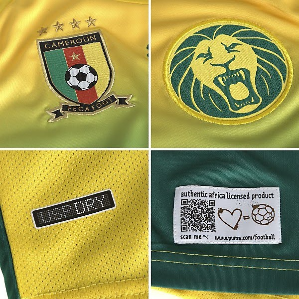 Cameroon Away Close-up